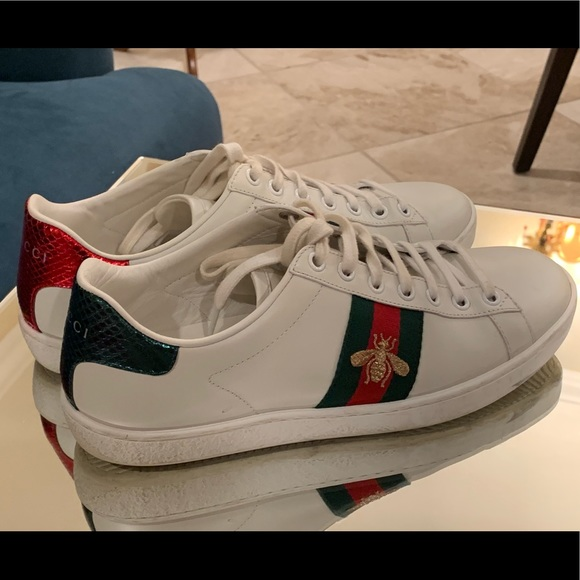 947026d9a Gucci Shoes | Authentic Ace Leather Embroidered Sneakers | Poshmark